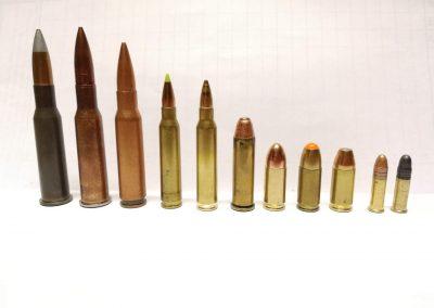 Patronen in diverse kalibers